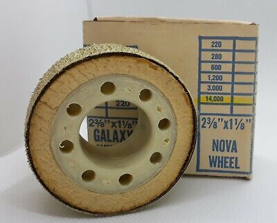"2 3/8"" NOVA Diamond Pacific GRIT 14000 Grinding Polishing Wheel Pixie Genie"
