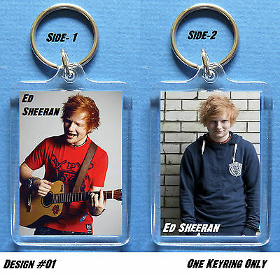 ED SHEERAN - Key Ring / Bag-Tag > Can be Personalized - 4 to collect