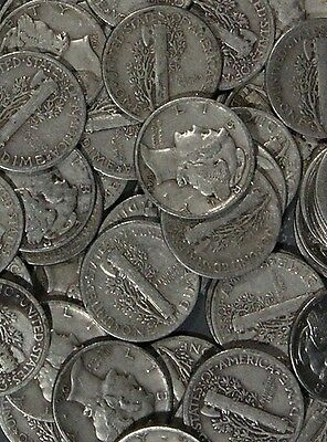 U.S Mercury Dime From Large Lot 1916-1945 90% Silver Coin - BIN is for 1 Coin