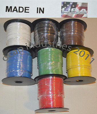 14 gauge 100' FEET X 6 ROLLS = 600' AWG PRIMARY AUTOMOTIVE WIRE COPPER STRANDED