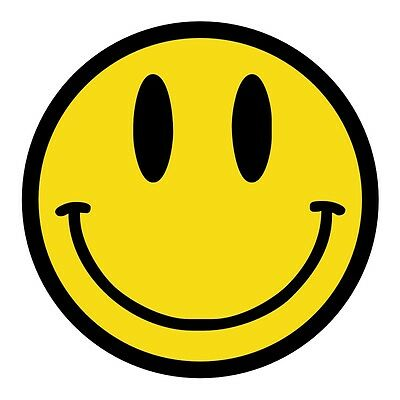 Smiley Face Hard Hat Decal / Label / Helmet Sticker Hippie 60's 70's Happy