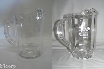 Carlisle Versapour Clear 60 oz Pitcher, Window Pitcher, Logo Attached, Lot of 2