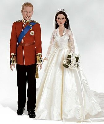 Prince William & Kate Middleton Royal Wedding Dolls & Annoucement Replica New
