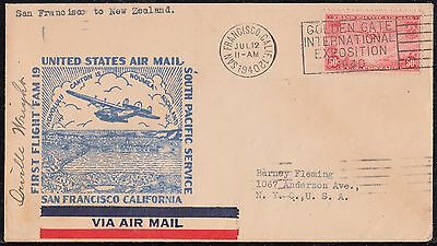 #c22 On 1St Flt San Fran. To New Zealand Cam 19 Signed By Orville Wright Wl3862