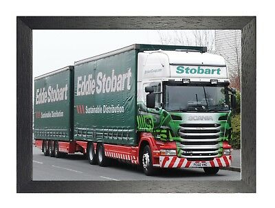 Eddie Stobart - Emily Ann - United Kingdom Trucking Company Lorry Picture Poster