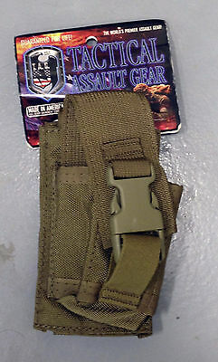 US Marine Seal Military Surplus Coyote Brown  Molle Flash bang Grenade Pouch TAG