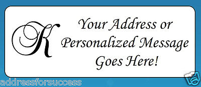 "60 Personalized Monogram Letter ""K"" Return Address Labels"