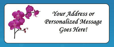 60 Personalized Purple Orchids Return Address Labels