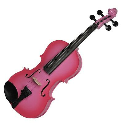 New Steinhoff 1/2 Size Student Violin with Case (Pink)