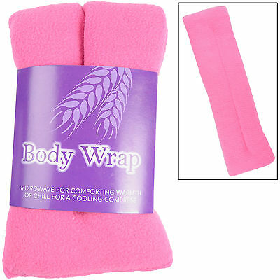 Lavender Scented Microwavable Wheat Warmer Pink Cushion Wrap Aches Pain Soothing