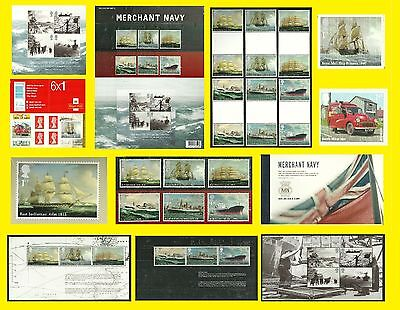 2013 Merchant Navy All varieties issued, each sold separately, Mint nh