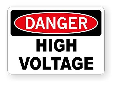 DANGER - High Voltage Vinyl Decal / Sticker / Safety Label Electrical Panel Box