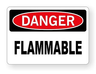 DANGER - Flammable Vinyl Decal / Sticker / Safety Label 3.5x5 Cabinet Chemical