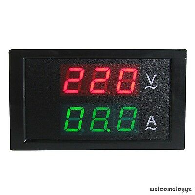 Digital AC 80~300V 100A DUAL LED Volt Amp Combo Panel Meter+Current Transformer