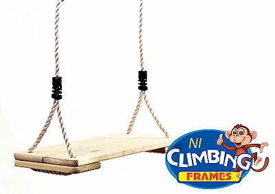 EXTRA LARGE Outdoor Wooden Swing Seat Climbing Frame Tree House RRP £25.98