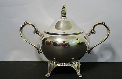 """Antique Silver Plate Oneida sugar pot - 5"""" H (lid included)"""