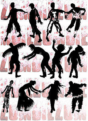 37 Zombie Family Vector Clipart