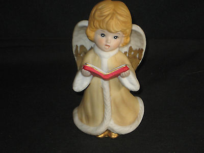 Vintage Ceramic Homco Christmas Angel with Choir Book #5557