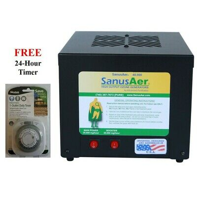 Ozone Generator Air Purifier Mold Allergen Smoke Odor SanusAer 40000