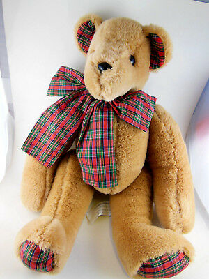 """Lillian Vernon 16"""" teddy bear FULLY jointed QUALITY  Golden Brown  Vintage"""