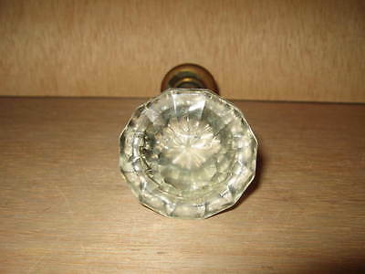 Vintage Small Glass Door Knob With Shank