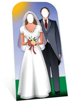 Just Married Wedding Couple Stand In Cardboard Cutout 186cm - Great for Photos