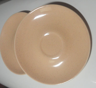 Taylor Smith & Taylor TS&T Pebbleford Saucers, Sand, Lot of Two (2)