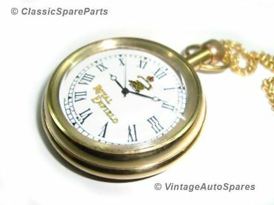 New Golden Brass Pocket Watch with Chain Royal Enfield @ Classic Spare Parts