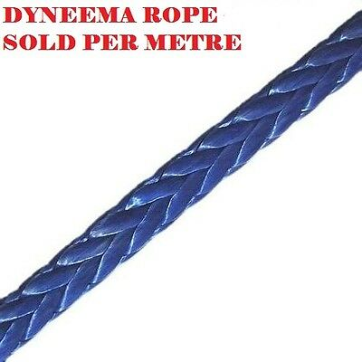 9MM Dyneema SK75 Winch Rope Per Metre Synthetic Recovery Cable 4X4 Offroad Tow