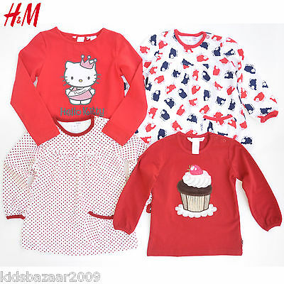 H&M Baby Girl Long Sleeve Tee/T Shirt/Top Size 9-12M/12-18M/18-24M