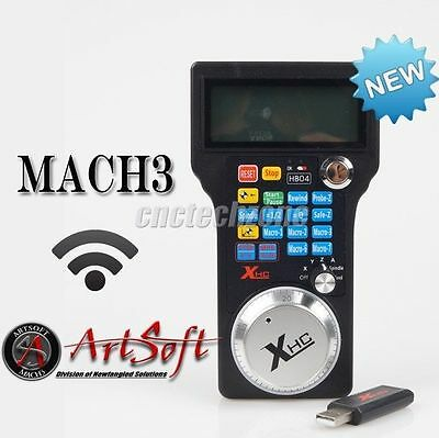 2016 Wireless USB MPG Pendant Handwheel Mach3 for 3, 4 Axis CNC Milling Router