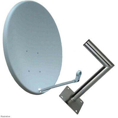 90CM Satellite Dish Sky Freesat With Wall Mount Saorsat Arabsat Foreign TV