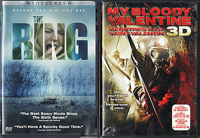 The Ring (DVD, 2003, Widescreen) & My Bloody Valentine (DVD, 2009, 2D & 3D)