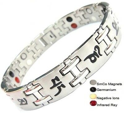 TITANIUM Magnetic Energy Germanium Armband  Power Bracelet Health Bio 4in1 Bio