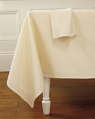 Ivory Cream Twill Polycotton Table Cloth Cover - Matching Napkins Available