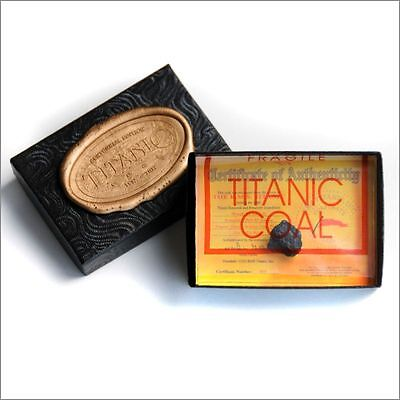 RMS TITANIC COAL 100TH ANNIVERSARY PRESENTATION BOX W COA  AUTHENTIC MEMORABILIA
