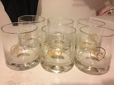 Canadian Club Rock Glass Set Of 6