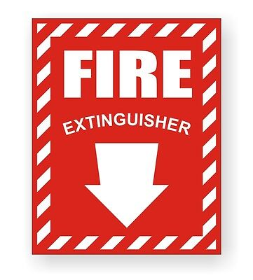 Fire Extinguisher Safety Decal / Sticker / Industrial Compliance Sign Label