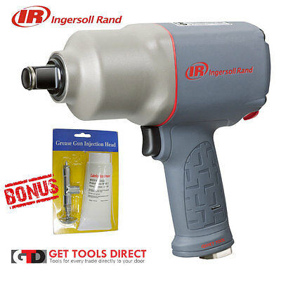 "New Ingersoll Rand 3/4"" Air Impact Wrench 2145QIMAX Bonus Grease Service Kit"