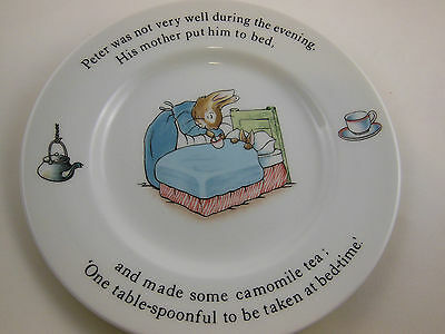 """Wedgwood Peter Rabbit Etruria made in England 7"""" child's plate excellent cond."""