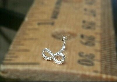 Nose Stud INFINITY * DIAMOND Cut Sterling Silver Cartilage SPARKLE Tragus Helix