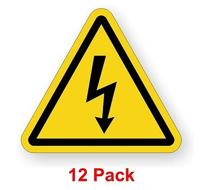 12 Electrical Shock Hazard Safety Warning Stickers Labels Electrical Arc Decals