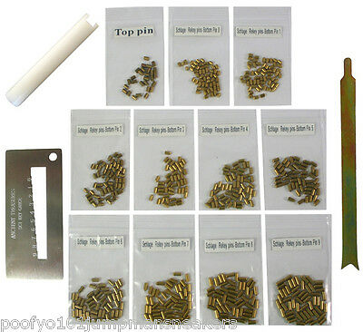Custom Schlage Rekey Kit Locksmith Rekeying Pins Kits Bottom pin 0 - 9 3 Tools