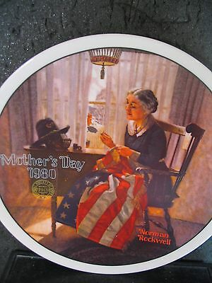 Norman Rockwell Knowles A MOTHER'S PRIDE 1980 Ltd Ed Plate