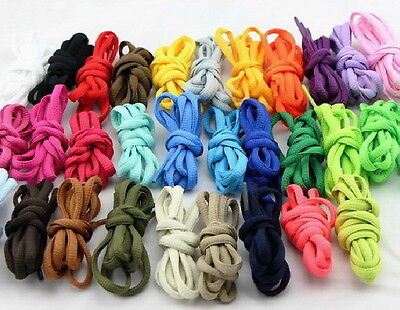 "1 Pair Round Oval 47"" 125cm Shoe Sneakers Boot Laces Shoelaces Bootlaces USA"