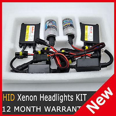 35W HID Xenon Conversion SLIM KIT H1 H3 H7 9005 HB3 9006 HB4 H11 6000K Lights
