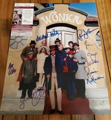 GENE WILDER SIGNED AUTOGRAPHED JSA COA WILLY WONKA CAST 11x14 PHOTO ALL 5 KIDS!