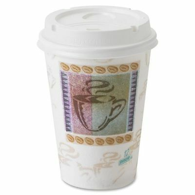 Dixie 12 oz Paper Coffee Cups with Lids - DXE5342COMBO600