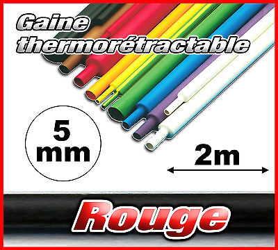 GR05-2# gaine thermorétractable rouge 5mm 2m ratio 2/1  gaine thermo