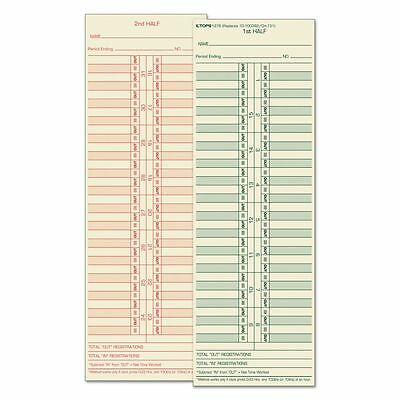 TOPS Double-Sided Semi-Monthly Time Cards - TOP1276